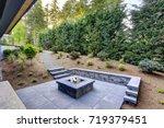 new modern home features a... | Shutterstock . vector #719379451
