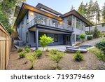 new modern home features a... | Shutterstock . vector #719379469