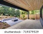 new modern home features a... | Shutterstock . vector #719379529