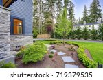 exterior of grey two story... | Shutterstock . vector #719379535