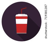 soda cup icon. illustration in... | Shutterstock .eps vector #719381287