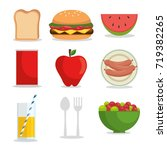 set of picnic icon | Shutterstock .eps vector #719382265