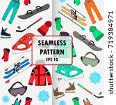 winter sport collection vector... | Shutterstock .eps vector #719384971