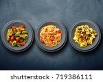 original italian pasta on wall... | Shutterstock . vector #719386111