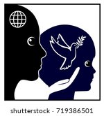 peace education for kids.... | Shutterstock . vector #719386501