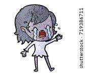 cartoon crying vampire girl | Shutterstock .eps vector #719386711