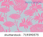 girlish floral background with... | Shutterstock .eps vector #719390575