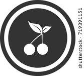 cherry icon . dark circle sign...   Shutterstock .eps vector #719391151
