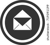 open mail icon . dark circle...   Shutterstock .eps vector #719391199
