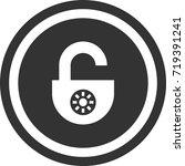 lock icon . dark circle sign...   Shutterstock .eps vector #719391241