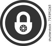 lock icon . dark circle sign...   Shutterstock .eps vector #719391265