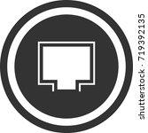port icon . dark circle sign...   Shutterstock .eps vector #719392135