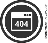 error icon . dark circle sign...   Shutterstock .eps vector #719392219