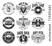 rock and heavy metal music set... | Shutterstock .eps vector #719392681