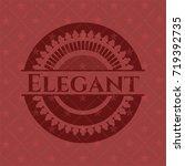 elegant red emblem. vintage. | Shutterstock .eps vector #719392735