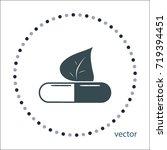 floral medicine sign  vector...   Shutterstock .eps vector #719394451