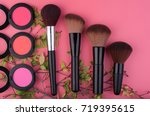 set of make up and cosmetic... | Shutterstock . vector #719395615