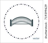 Small Bridge Vector Icon  Web...