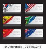 country flags banner with text... | Shutterstock .eps vector #719401249