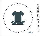 hand washing of linen sign ...   Shutterstock .eps vector #719402011