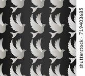 birds silhouettes   flying... | Shutterstock .eps vector #719403685
