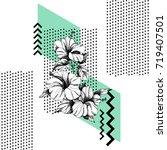 hand drawn flowers vector....   Shutterstock .eps vector #719407501
