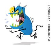 blue monster | Shutterstock .eps vector #719408377
