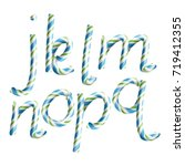 letters j  k  l  m  n  o  p  q. ... | Shutterstock .eps vector #719412355
