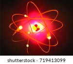 atom symbol made with 3d... | Shutterstock . vector #719413099