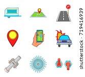 navigator icons set. cartoon...   Shutterstock .eps vector #719416939