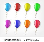 balloons colorful collection of ... | Shutterstock . vector #719418667