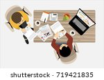 partnership. partners signs... | Shutterstock . vector #719421835