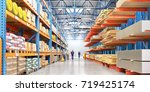 warehouse with variety of... | Shutterstock . vector #719425174