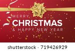 merry christmas and happy new... | Shutterstock . vector #719426929