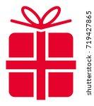 gift vector icon | Shutterstock .eps vector #719427865
