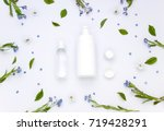 white organic pharmacy... | Shutterstock . vector #719428291