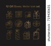 simple set of outline vector... | Shutterstock .eps vector #719430631