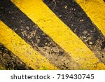 wall painted in yellow and... | Shutterstock . vector #719430745
