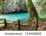 gorgazzo is an underwater cave... | Shutterstock . vector #719430805