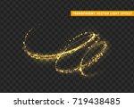 magic light effect. stardust... | Shutterstock .eps vector #719438485