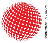 abstract globe dotted sphere ... | Shutterstock .eps vector #719439091