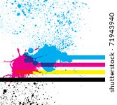 paint splashes with cmyk colors.... | Shutterstock .eps vector #71943940