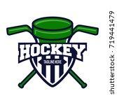 hockey sport logo template | Shutterstock .eps vector #719441479