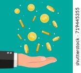 buisnessman hand catching... | Shutterstock .eps vector #719445355