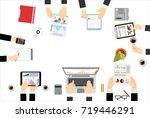 flat design illustration... | Shutterstock . vector #719446291