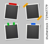 collection of blank photo... | Shutterstock .eps vector #719447779