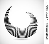 lines in circle form . spiral... | Shutterstock .eps vector #719447827
