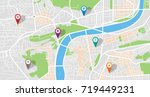 city map | Shutterstock .eps vector #719449231