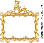 gold vintage frame isolated on...   Shutterstock .eps vector #719453275