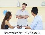 asian business people having... | Shutterstock . vector #719455531